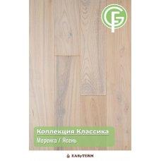 ИНЖЕНЕРНАЯ ДОСКА GREEN FOREST ЯСЕНЬ МЕРЕНГА Коллекция Классик16х135х500-2400 под UF лаком (12 слоев)